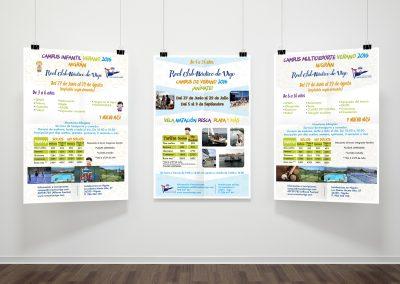 Diseño de carteles para el Campus RCN de Vigo