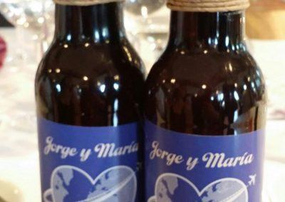 Etiqueta personalizada de Cerveza para Bodas