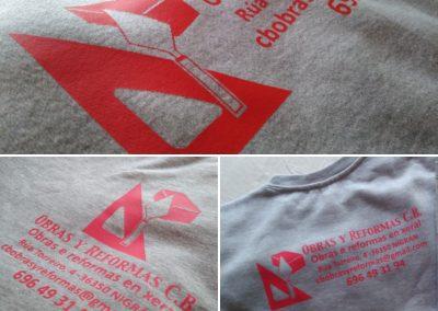 Marcaje sudadera y camiseta Obras y Reformas