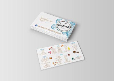 Diseño de tarjetas para LaTorta