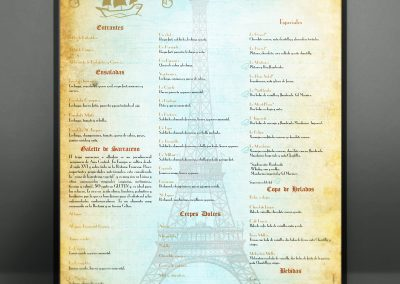 Cartel para Creperia St Jacques
