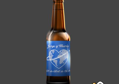 Etiqueta de cerveza personalizada