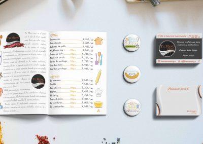 menu ilustraciones y tarjetas para Tu Menu