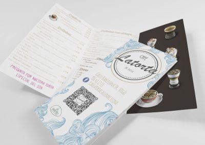 Diseño de carta para Latorta