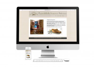 Web para Creperia St Jacques